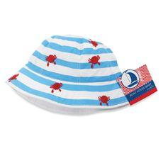 Mud Pie™ Crab Embroidered Striped Sun Hat $14.99