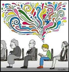 Reading full color life / La lectura llena la vida de color (ilustración de Guada)