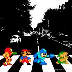 Nintendo Abbey Road #nintendo #metroid #mario #megaman #zelda #beatles #abbey #road #nes #samus