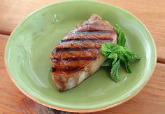 Grilled Sweet Tea Glazed Pork Chops   FaveSouthernRecipes.com