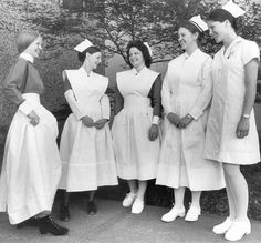 Nurse uniforms thru the years: The first class of student nurses entered Royal Columbian Hospital in 1901 – the era of the horse and buggy doctor and a Victorian way of life. The last class graduated in 1978