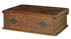Wonderful scratch carved and initialed American  Bible box.