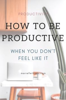 When you're feeling lazy, how do you turn it around and start getting things done? Read this post for tips and inspiration, and start your productivity now! Productive Things To Do, How To Be Productive, Feeling Lazy, How Are You Feeling, Productivity Apps, Increase Productivity, Time Management Skills, How To Stop Procrastinating, Work From Home Tips