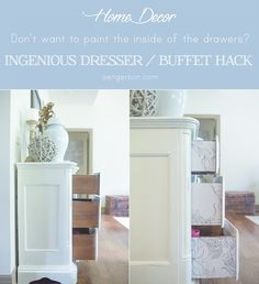 how to decorate the side of a dresser