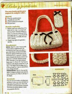 Patrones Crochet: Bolso y Funda de Gafas de Crochet