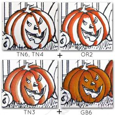 Coloring Pumpkins - Spectrum Noir Craft Pens & Markers from Crafters ...