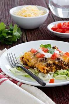 Impossibly Easy Taco Pie - Click through for recipe!