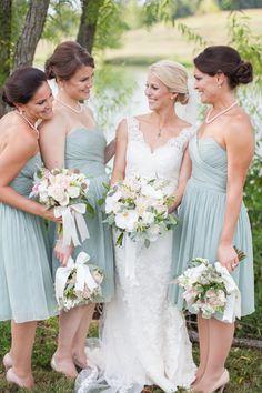 dusty shale bridesmaid dresses | Declare Photography #wedding