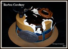 Top Western Cowboy Cakes - Top Cakes - Cake Central For Alex. Cowboy Birthday Cakes, Rodeo Birthday, Cowboy Cakes, 4th Birthday, Birthday Ideas, Western Cakes, Western Theme, Western Cowboy, Sweet 16 Cakes