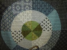 """Innovative circle quilt pattern with new line of fabrics by Parson Gray called """"Curious Nature.""""  Free Spirit has this pattern on its site as a free download here: freespiritfabric...."""