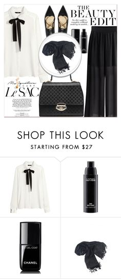 """""""# I/16 My Signature Scarf"""" by lucky-1990 ❤ liked on Polyvore featuring H&M, MAC Cosmetics, Chanel and mysignaturescarf"""