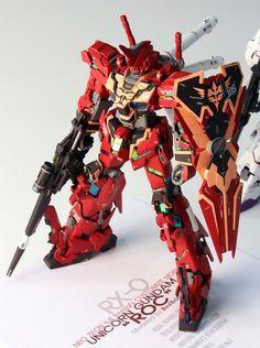 GUNDAM GUY: 1/100 RX-0-03 Unicorn Gundam 03 ROC Full Frontal Use - Custom Build