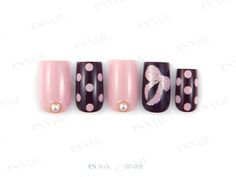 Pink and Black Polka Dots