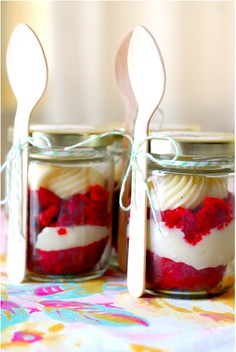 DIY Cupcakes in a Jar. Add Christmas emblishments for holiday gift.