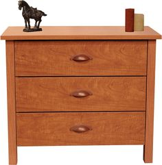 Bedside Drawer Nightstand Solid Wood Cherry Finish Durable Bedroom Furniture  #VentureHorizon #Bedside #Drawer #Nightstand #Furniture