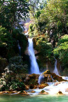 Beautiful waterfall in Laos #travel #photography #laos