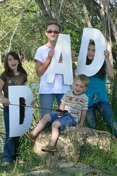 I love you dad pictures in collage with letters. From  $1 tree foam board
