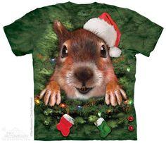 Holiday Squirrel Big Face T-Shirt