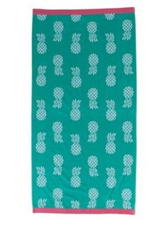 Home Accents  Weclome Pineapple Beach Towel - Welcome Pinepple - 36 X 72