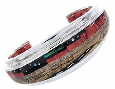 Sterling Silver Native American Mesa Design Bracelet IS63301 SilverTribe. $791.99