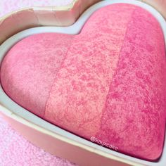 Too Faced Something About Berry sweetheart blush. Who doesn't want a blush shaped like a heart?!  This is a very pigmented fushia like blush. Has a nice sheen without being too high shine.