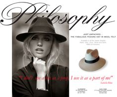 Fedora newsletter for Philosophy Isabella Blow, African Design, Fedora Hat, Jenni, Clothing Stores, Wool Felt, Philosophy, Button, Stylish