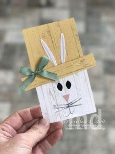 Easter Bunny Pallet card - Basket Bunch stamp set and Basket Builder Framelit Dies #stampinup #stampingatmonikas #BasketBunch #cardmaking