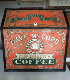 Original Nave-McCord Country Store Coffee Bin