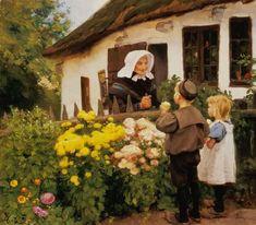 VECINOS. Hans Andersen Brendekilde (Dinamarca, 1857-1942).