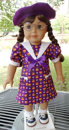 18 Doll Clothes School Dress for Fall Fits by Designed4Dolls, $19.95