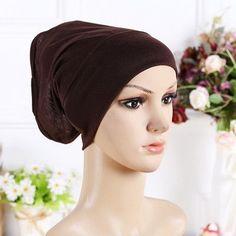 8e309e7a48d New Arrival Designer Full Cover Inner Muslim Cotton Hijab Cap Islamic Head  Wear Hat Underscarf 13 Colors Women Muslims Hat