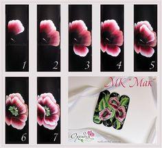 китайская роспись ногтей пошагово фото | Photo-Find.ru