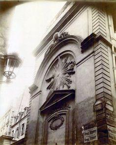 Paris 6e - Ancienne chapelle du collège des Grandmontains, rue Mignon, avant sa démolition en 1898 - Union Photographique Française
