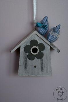 cotton birds on wood home #cotton #birds #handmadedecor #handmade #kokoart