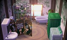 "lilac-leaf: ""green bathroom ✿ """