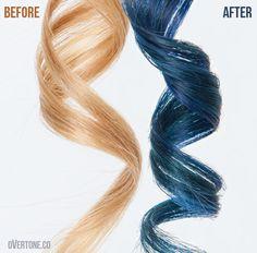 Extreme Blue Go Deep over Medium Blonde
