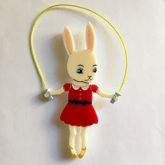 Skipping Bunny in Red