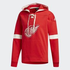 6ec1614b Detroit Red Wings Men's Adidas Red Pullover Jersey Hoodie Adidas Hoodie Mens,  Adidas Red,