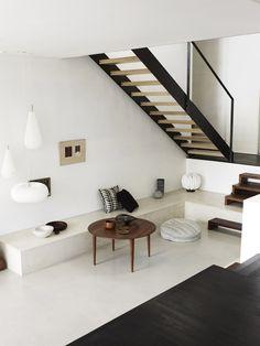 God ide at fordele trappetrinene i modsat retning - eller fx. de første trin retvinklet