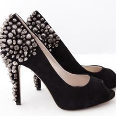 These AMAZING studded pumps are from Zu shoes.