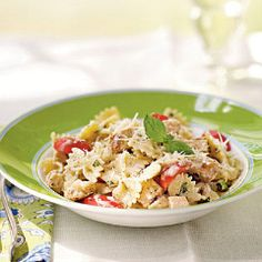 Farfalle with Roasted Chicken and Sun-Dried Tomato Cream Sauce. Make ...