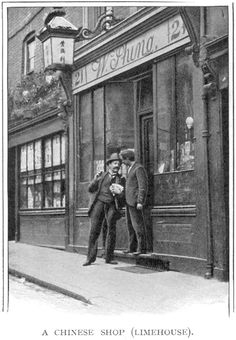 Photographic Print: A Chinese shop, Limehouse, London, : Victorian London, Vintage London, Old London, Victorian History, Victorian Street, London History, British History, Baker Street, Old Photos