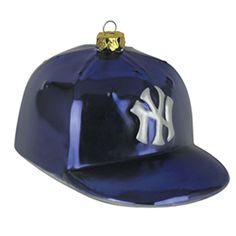New York Yankees Team Glass Baseball Hat Ornament Yankees Team d50268b120ec
