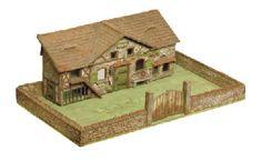 Elastolin composition Farm Building and Farm Yard
