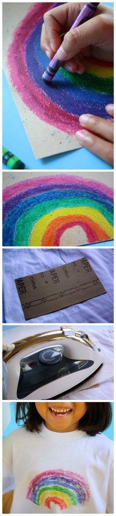 MamyPops: *POP* Idea: Personalizar camisetas usando papel de lija y lápiz de cera / Personalizar camisetas usando papel de lixa e giz de cera.