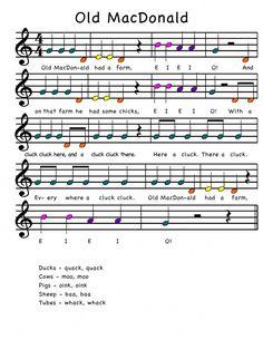 Old MacDonald for boomwhackers – Musical instruments Elementary Music Lessons, Music Lessons For Kids, Music Lesson Plans, Music For Kids, Piano Lessons, Preschool Music, Music Activities, Violin Sheet Music, Piano Music