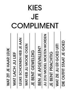 Kies je compliment