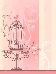 25463325-vintage-style-spring-season-room-with-bird-cage-tender-pastel--Stock-Photo.jpg (986×1300)
