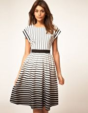 ASOS Midi Dress in Stripe