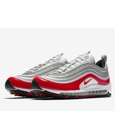 the best attitude 00b13 4eaa8 Men s Nike Air Max 97 Metallic Silver Red Grey Trainer Nike Air Max Sale,